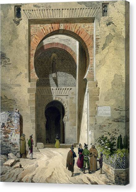 Influence Canvas Print - The Gate Of Justice by Leon Auguste Asselineau