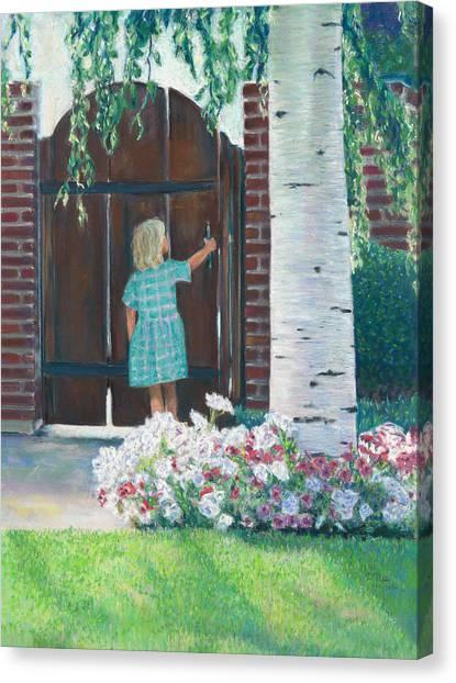 To The Garden Canvas Print