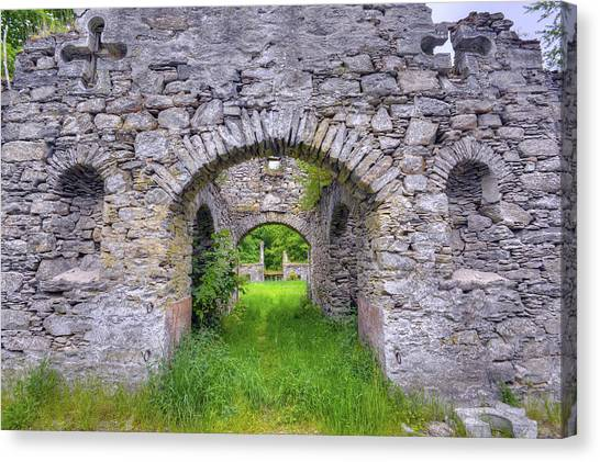 The Gate To The Ruins Canvas Print