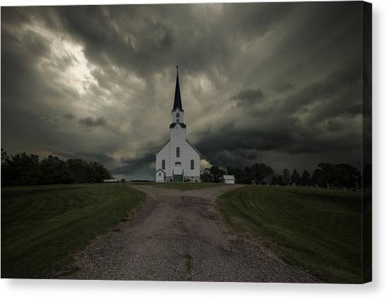 Tornadoes Canvas Print - The Gathering Storm by Aaron J Groen