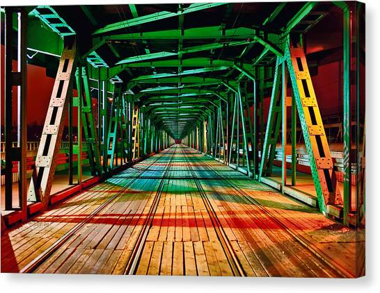 The Gdanski Bridge Canvas Print