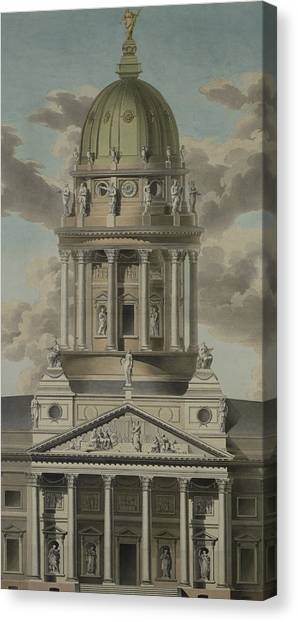 Baroque Canvas Print - The German Cathedral On The Gendarmenmarkt by GF Kluge