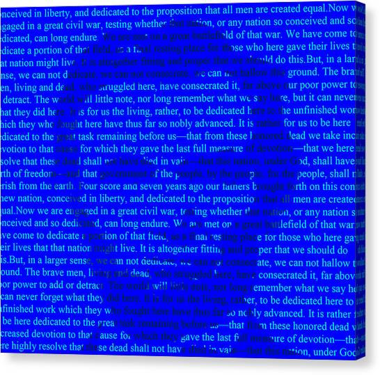 Us Civil War Canvas Print - The Gettysburg Address by Brian Reaves