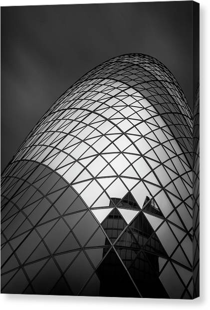 Uk Canvas Print - The  Gherkin by Ahmed Thabet