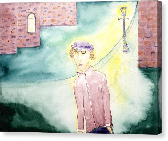 The Ghost Of John Lennon In Liverpool Canvas Print