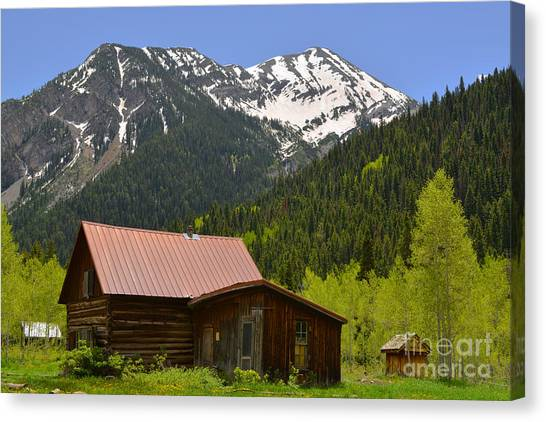 The Ghost Town Of Crystal Canvas Print