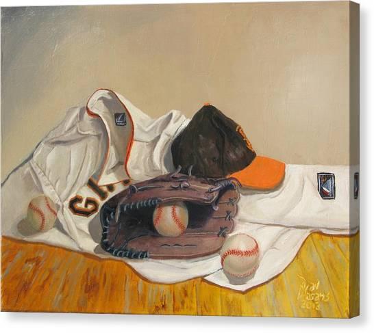 San Francisco Giants Canvas Print - The Giant Sleeps Tonight by Ryan Williams