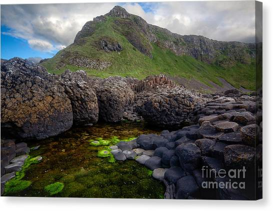 Material World Canvas Print - The Giant's Causeway - Peak And Pool by Inge Johnsson