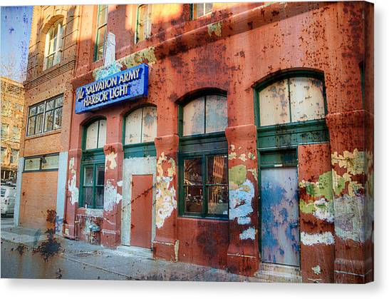 Salvation Army Canvas Print - The Gift - Portland Oregon by Spencer McDonald