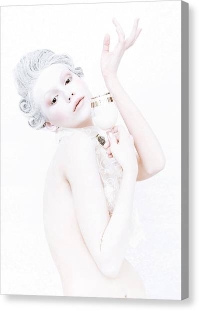The Girl With A Glass Of Milk Canvas Print