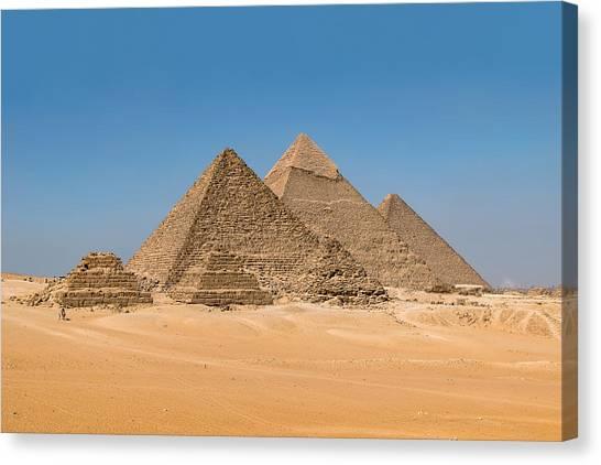 The Giza Pyramids Canvas Print