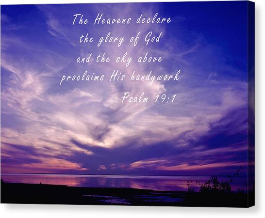 Bible Verses Canvas Print - The Glory Of God by David and Carol Kelly