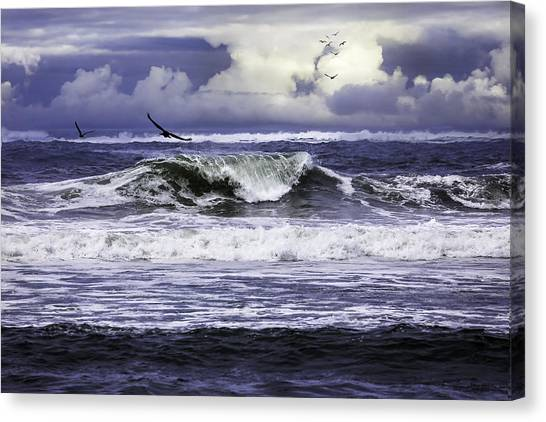 The Glory Of Morning On The Oregon Coast Canvas Print