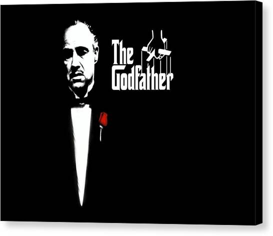 Movies Canvas Print - The Godfather by Cool Canvas