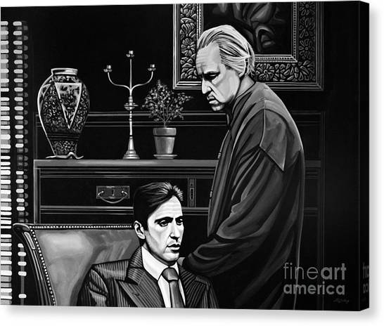 Scarface Canvas Print - The Godfather  by Paul Meijering