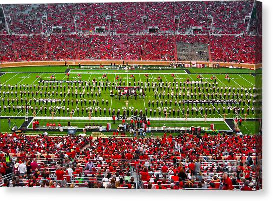 Canvas Print featuring the photograph The Going Band From Raiderland by Mae Wertz
