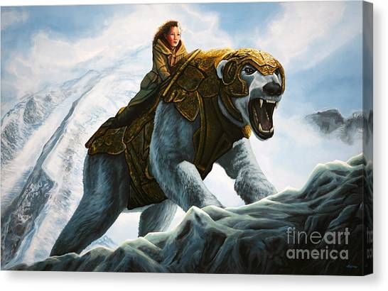 Polar Bears Canvas Print - The Golden Compass  by Paul Meijering