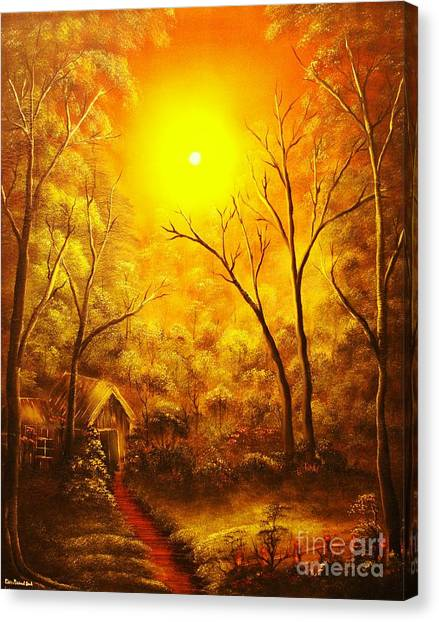 The Golden Dream-original Sold-buy Giclee Print Nr 31 Of Limited Edition Of 40 Prints  Canvas Print by Eddie Michael Beck