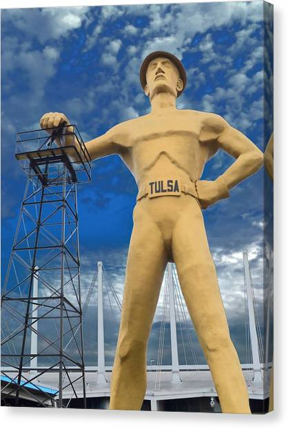 The Golden Driller - Tulsa Oklahoma Canvas Print