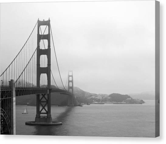 The Golden Gate Bridge In Classic B W Canvas Print