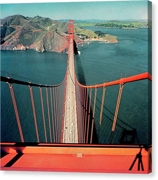 North America Canvas Print - The Golden Gate Bridge by Serge Balkin