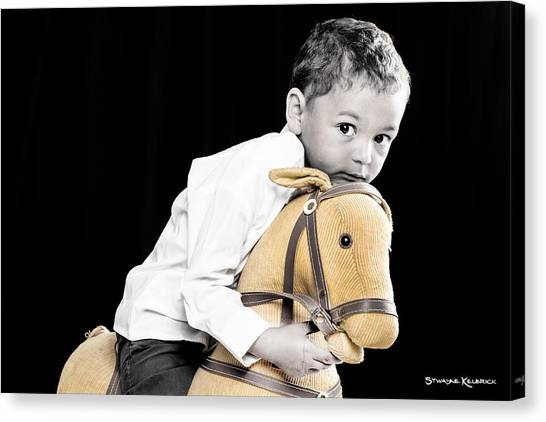 Canvas Print - The Golden Horse And The Scary Kid by Stwayne Keubrick