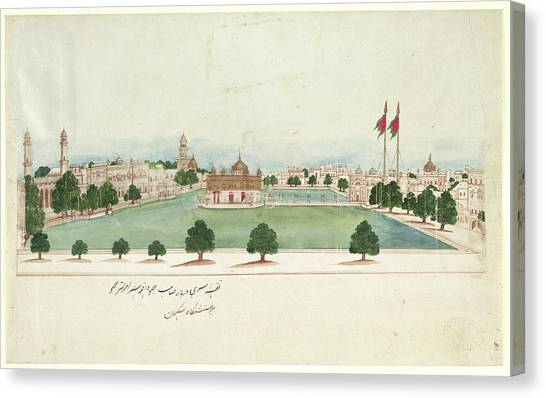 Golden Temple Canvas Print - The Golden Temple At Amritsar by British Library