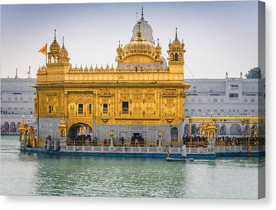 Sikh Art Canvas Print - The Golden Temple by Pooja Gulati
