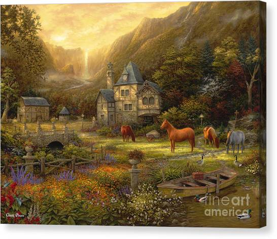Medieval Canvas Print - The Golden Valley by Chuck Pinson