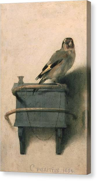 Perching Birds Canvas Print - The Goldfinch by Carel Fabritius