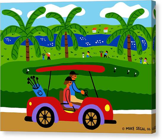 The Golfers Canvas Print