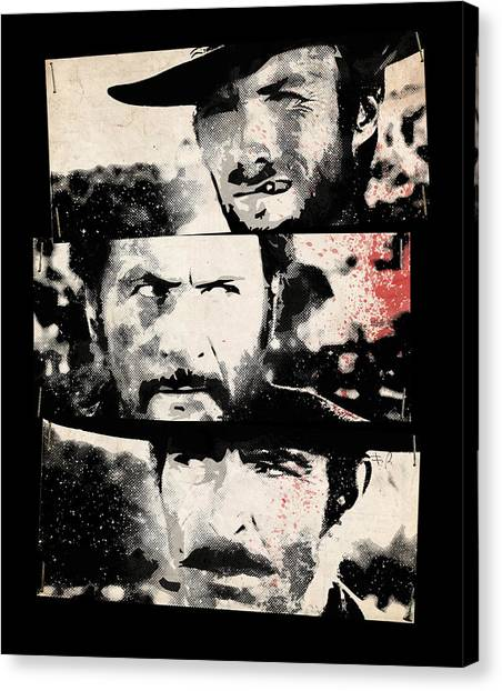 Spaghetti Canvas Print - The Good The Bad And The Ugly by Filippo B