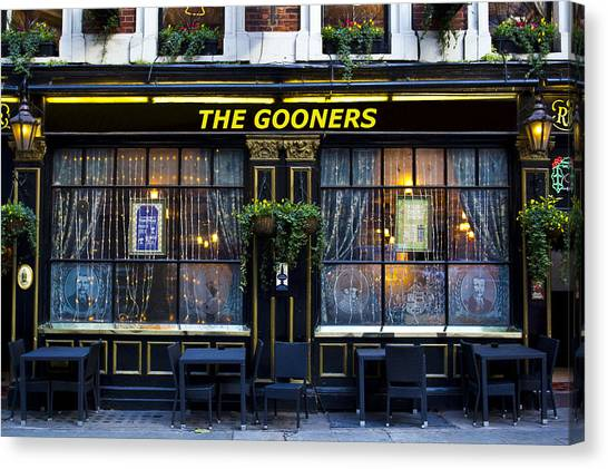 Arsenal Fc Canvas Print - The Gooners Pub by David Pyatt
