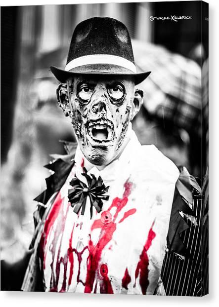 Canvas Print - The Gory Creepy Zombie  by Stwayne Keubrick