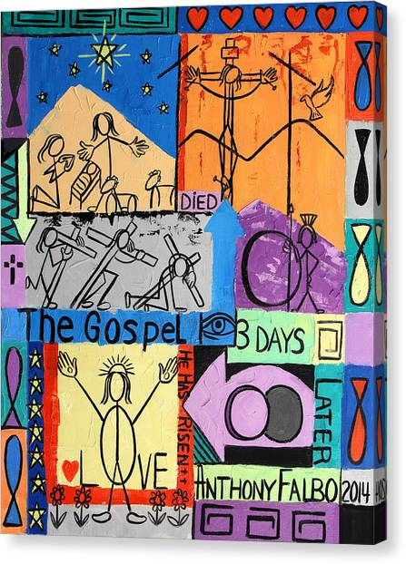 Buried Canvas Print - The Gospel by Anthony Falbo