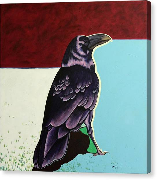 The Gossip - Raven Canvas Print by Joe  Triano
