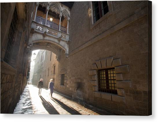 The Gothic Barcelona Canvas Print by Javier Fores
