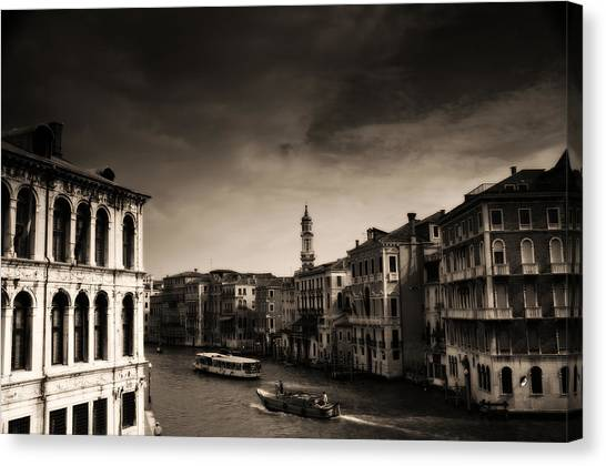 Spaghetti Canvas Print - The Grand Canal by Aaron Bedell