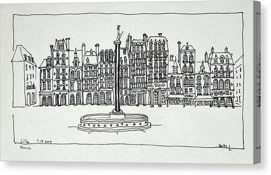 Scotty Canvas Print - The Grand Place, Lille, France by Richard Lawrence
