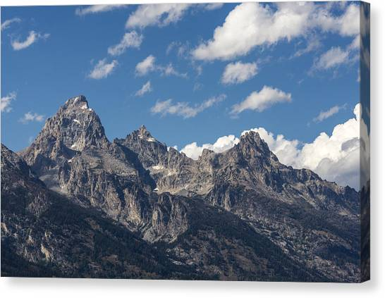 Wy Canvas Print - The Grand Tetons - Grand Teton National Park Wyoming by Brian Harig