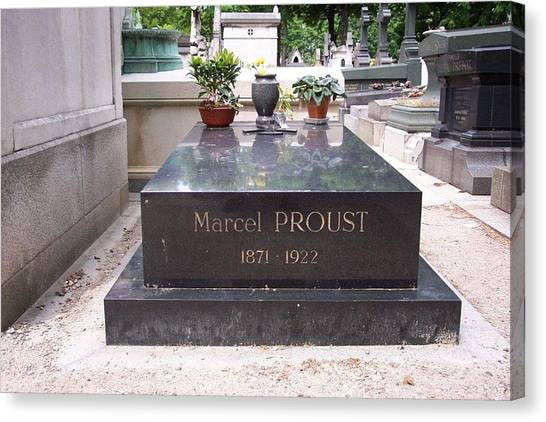 The Grave Of Marcel Proust In Paris France Canvas Print