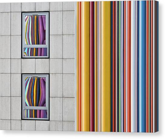 The Gray And The Colors Canvas Print by Guillaume Legraverend