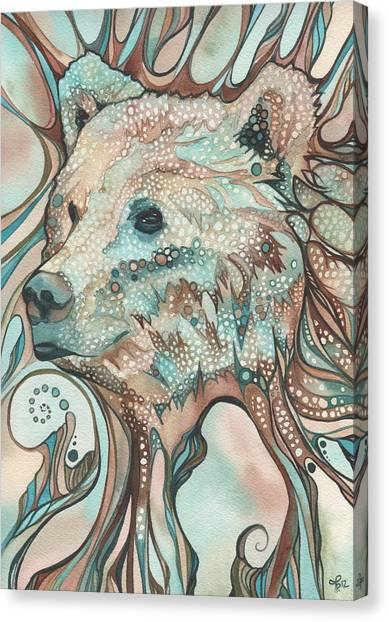 Brown Canvas Print - The Great Bear Spirit by Tamara Phillips