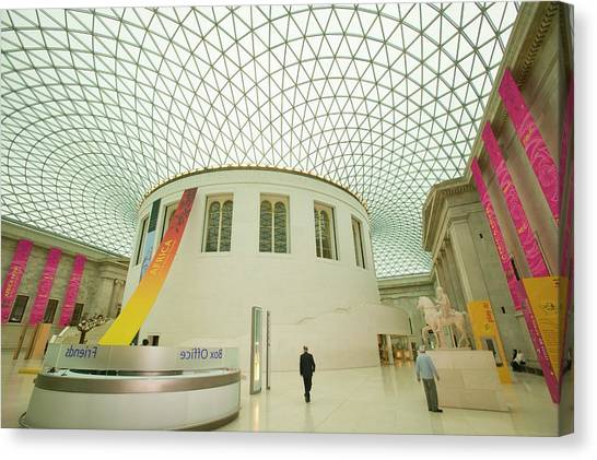The British Museum Canvas Print - The Great Court In The British Museum by Ashley Cooper