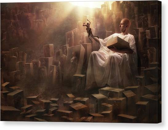 Doll Canvas Print - The Great Covfefe by Christophe Kiciak