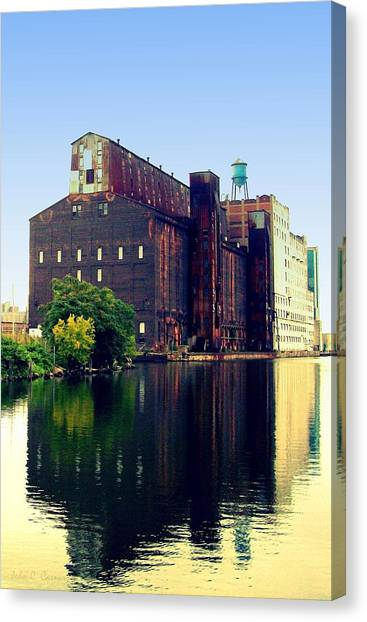The Great Northern Elevator Canvas Print by John Carncross
