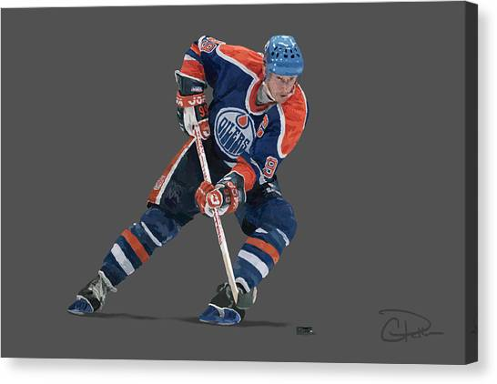 New York Rangers Canvas Print - Gretzky by Charley Pallos