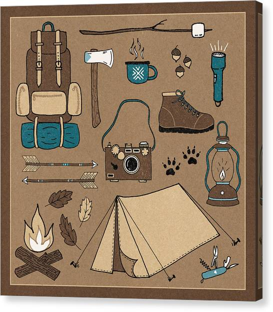 Axes Canvas Print - The Great Outdoors V by Laura Marshall