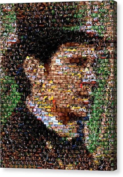James Franco Canvas Print - The Great Powerful Mosaic by Paul Van Scott