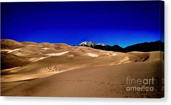 The Great Sand Dunes1 Canvas Print by Claudette Bujold-Poirier